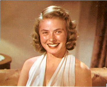 Ingrid's color screen test Aug. 1939