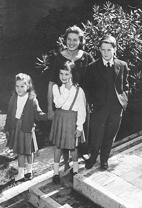 with her Rossellini children