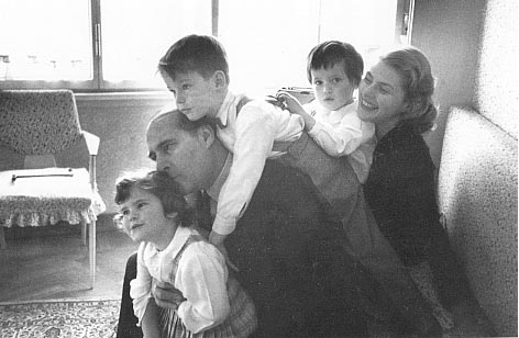 with Rossellini family 1956