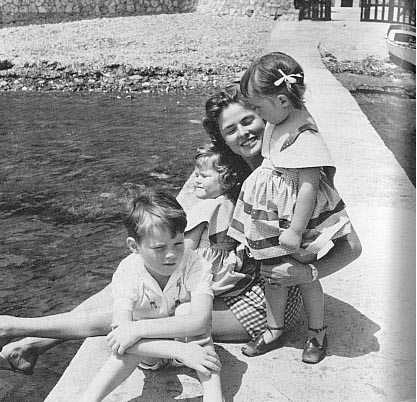 with Rossellini children